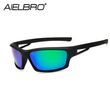 AIELBRO Polarized Cycling Glasses Bike Outdoor Sports MTB Bicycle Sunglasses Goggles Eyewear Myopia Frame