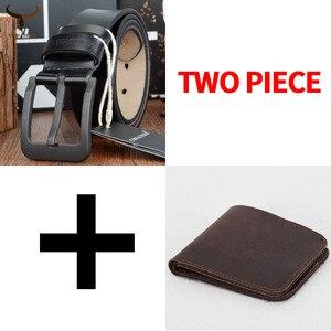 Image 2 - Cinto e carteira conjunto COWATHER para homens top quality bolsa vaca genuína cinta masculina terno dos homens da moda cinto e carteira definir frete grátis