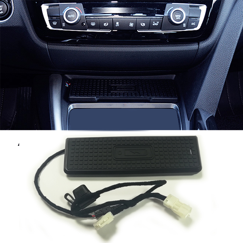 10W Qi Wireless Phone Charger Board For BMW F30 F31 3 4 Series Storage Holder