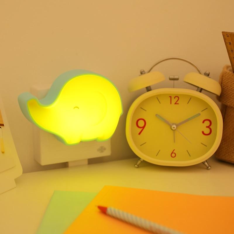 Adorable as light sound control lamp energy saving electricity LED night lamp wall lamp bedside nursing baby power saving electricity energy saver box uk plug 90 250v