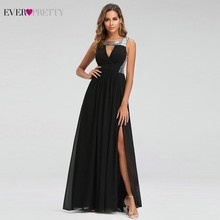 Sexy Prom Dresses Ever Pretty O-Neck A-Line Sleeveless Black