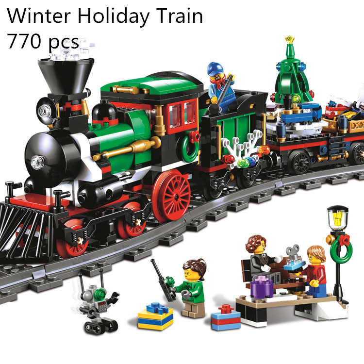 CX 36001 770Pcs Model building kits Compatible with Lego 10254 Christmas Winter Holiday Train Set Children Building Block Bricks cx 21022 554pcs model building kits compatible with lego 8185 f1 automobile carrier 3d bricks figure toys for children