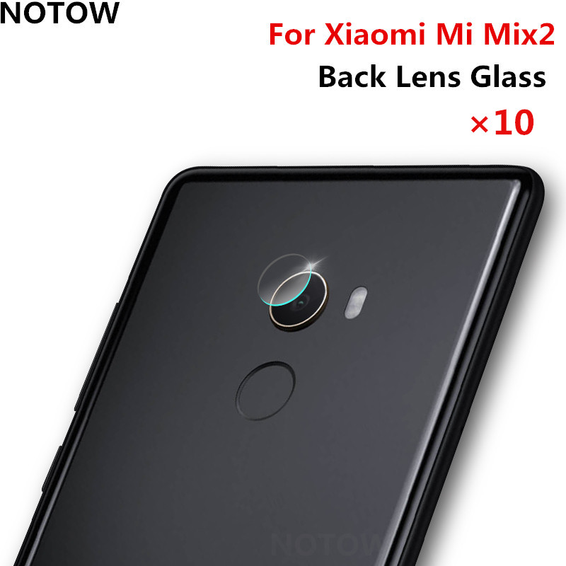 NOTOW 10pcs/lot flexible Rear Transparent Back Camera Lens Tempered Glass Film Protector Case For Xiaomi Mi Mix2