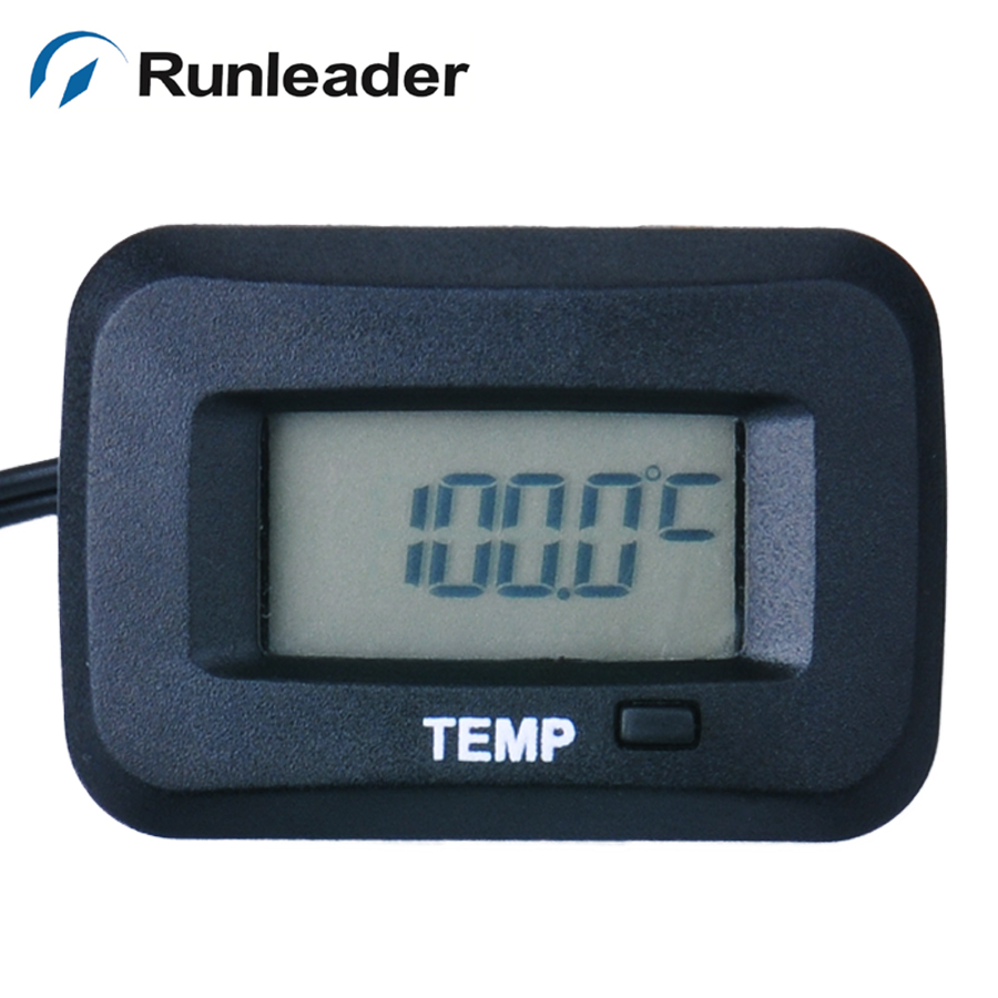 RL-TM006 with RL-TS002 PT100 -20- +250 Celsius degree digital Water oil TEMP sensor METER thermometer temperature meter 0 56 red blue dual display digital led thermometer temperature meter waterproof metal probe sensor module 20 100 celsius