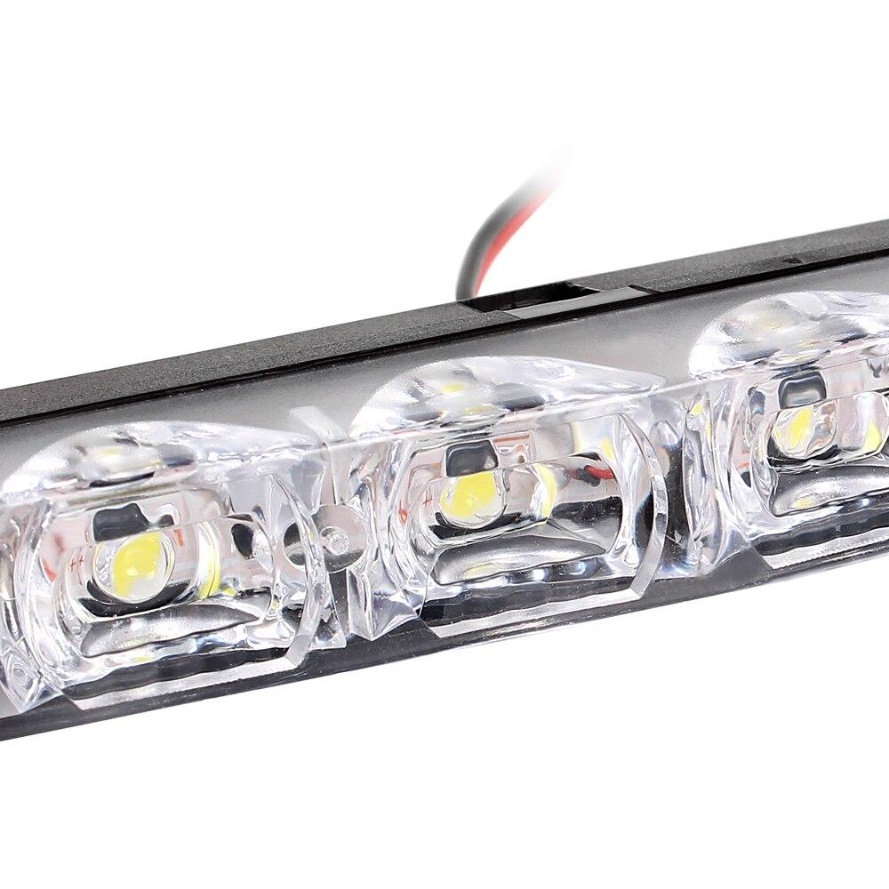 2 шт. Универсальный DRL DC 12 В водить автомобиль Габаритные огни 6 светодиодов автомобилей укладка супер яркий автомобиль источник света