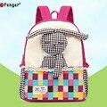 Bolsa de la escuela niña conejo de Dibujos Animados mochila de lona morral de la escuela primaria caliente rosa caja de lápices lindo mochila de moda para niños