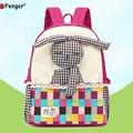 Saco de escola menina de coelho Dos Desenhos Animados mochila de lona mochila escola primária rosa quente bonito estojo de lápis moda mochila para crianças