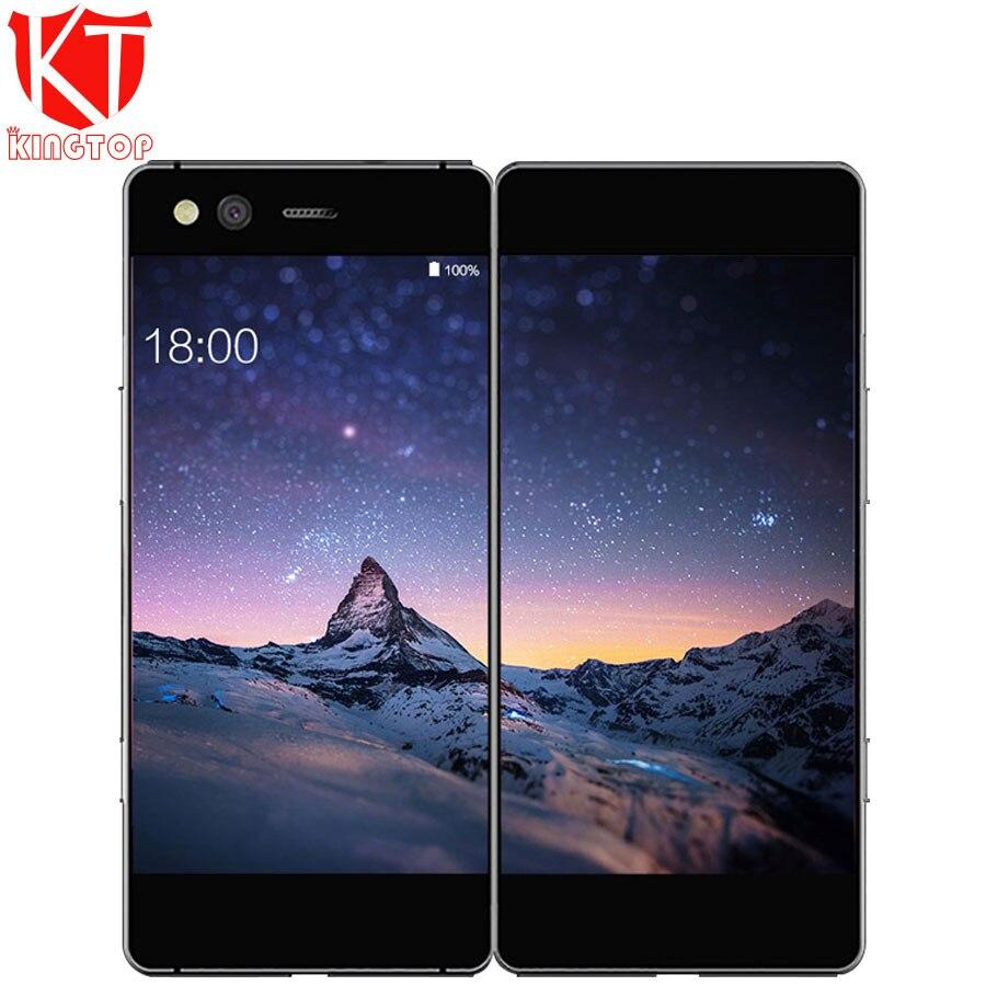 New ZTE Axônio M Dobrável Tela Dupla Tela De 5.2 polegada Do Telefone Móvel Snapdragon 821 Quad core Android 7.0 20MP Impressão Digital celular
