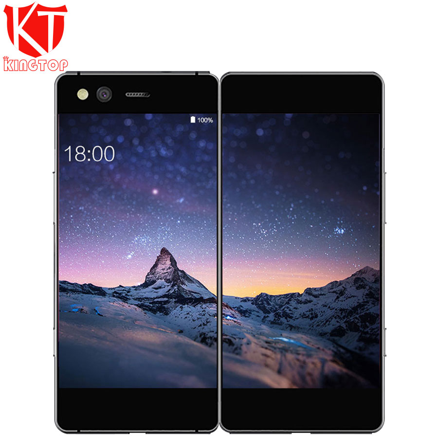 New ZTE Axon M Folding Screen Dual Screen 5.2 inch Mobile Phone Snapdragon 821 Quad core Android 7.0 20MP Fingerprint cellphone