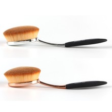 Fashon Toothbrush Curve Brush Foundation Pro Cosmetic Makeup Face Powder Blusher Blushes