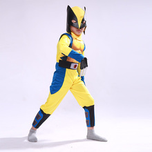 Wolverine Wolf Set Anime X-Men Muscle Hero Children Fantasy Comic Movie Carnival Party Purim Halloween