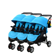 High Quality Triplets Quadruplets Baby Stroller Separable Assemble Shockproof Folding Easy Triplets Baby Pram Colour Custom