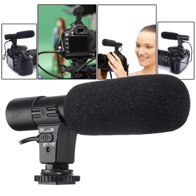 Универсальный внешний стерео микрофон 3,5 мм для Canon Nikon DSLR Camera DV Camcorder MIC 01 SLR Camera