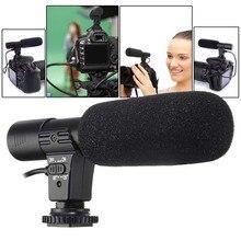 3.5mm evrensel mikrofon harici Stereo mikrofon Canon Nikon DSLR kamera DV kamera için MIC 01 SLR kamera mikrofon