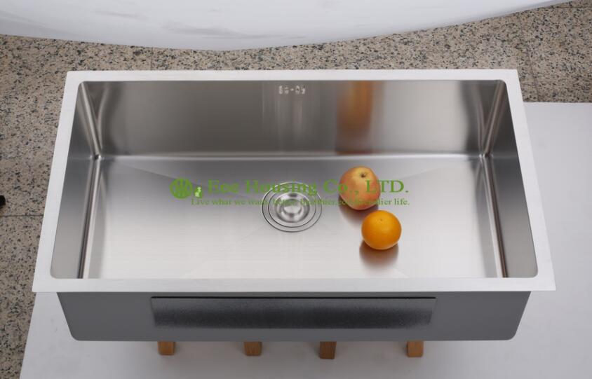 Undermount hand make sink kitchen german pull out basket for German kitchen sinks