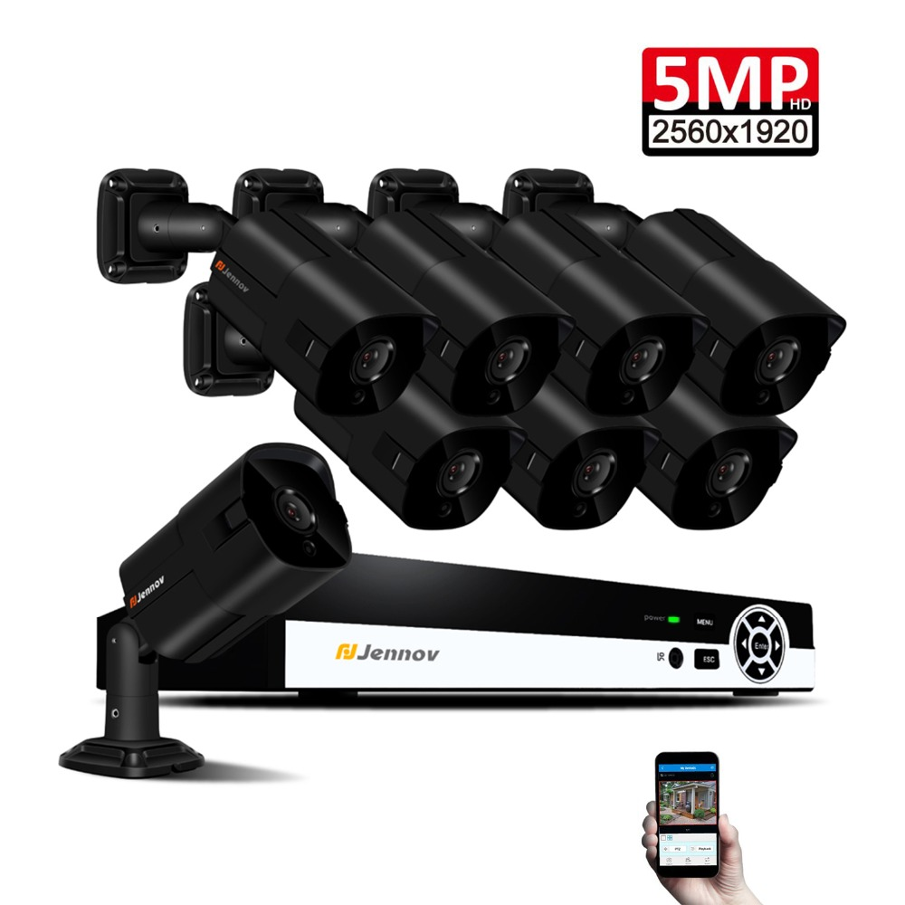 8CH 5MP POE CCTV Kit Cameras IP Video Surveillance System Security Camera System NVR Full HD H.265 Night Vision APP Danala P2P 8ch home security camera system wireless cctv camera system video recorder nvr kits 4 cameras night vision surveillance kit p2p
