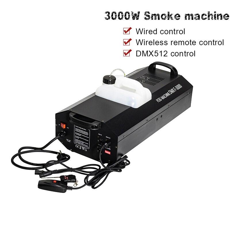 Free Shipping 3000W Fog Machine Smoke Machine dmx512 Basic Control DJ party Stage Light Dj Equipment