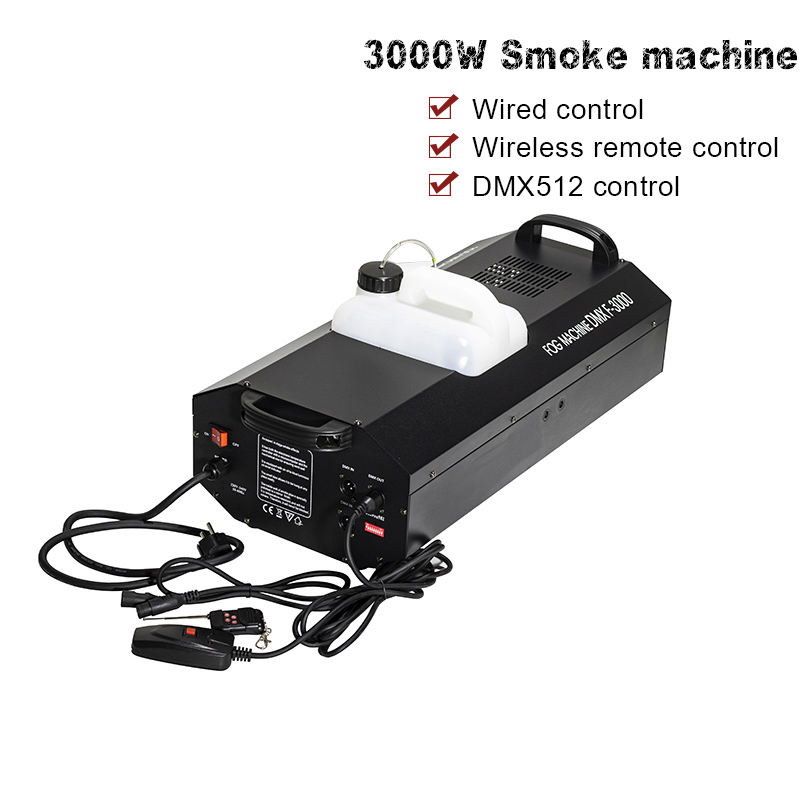 Free Shipping 3000W Fog Machine Smoke Machine dmx512 Basic Control DJ party Stage Light Dj Equipment-in Stage Lighting Effect from Lights & Lighting    1
