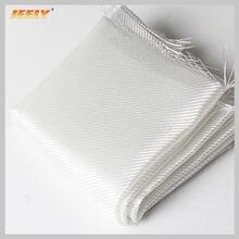 Jeely e-vidro 160gsm rasgo resistente sarja tecido fibra de vidro 1m largura