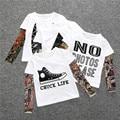 Ropa de los niños camiseta de Los Muchachos niños del tatuaje camisetas chicas grandes ropa de verano niños tops ropa de bebé marca camisetas de manga larga niño t
