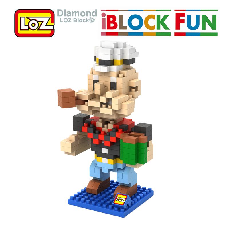 LOZ Popeye The Sailor Figures Assembly Model Toys Child Christmas Gift 14+ Building Blocks