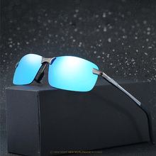 Men's Aluminum Polarized Mens Sunglasses Mirror Sun Glasses Square Goggle Eyewear Accessories For Men Female Oculos De Sol