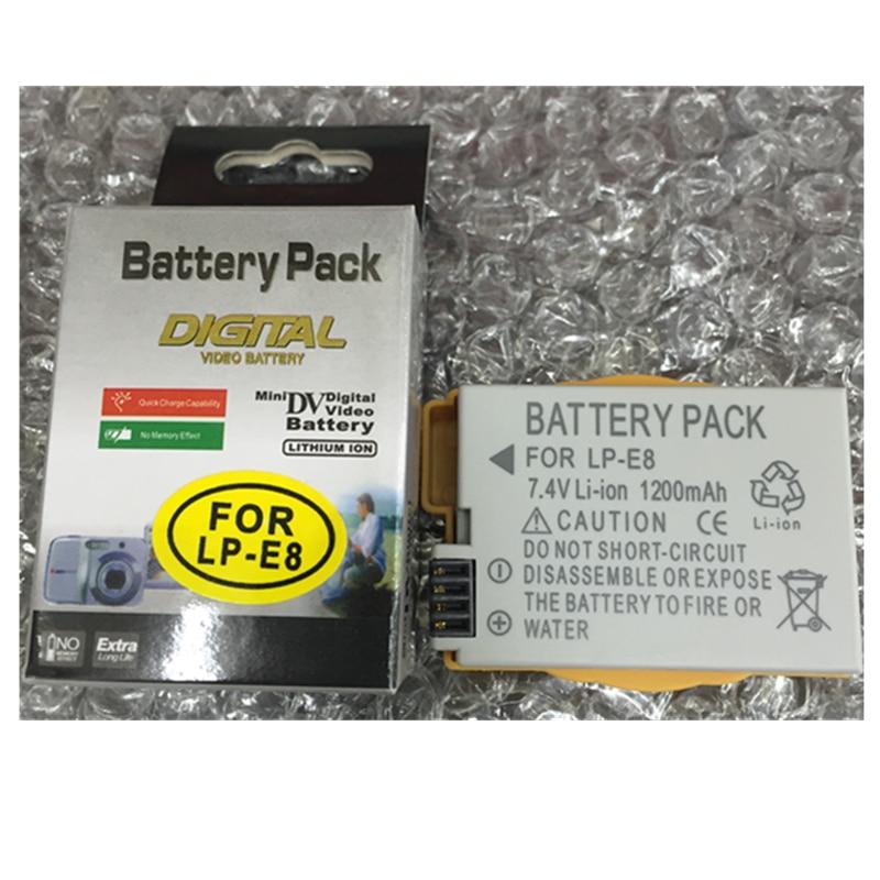LP-E8 LP E8 литий-ионный Батарея пакет LPE8 литиевых батарей SLR Камера LP-E8 для Canon EOS 550D 600D <font><b>650D</b></font> 700D цифровой Камера Батарея