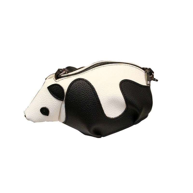 Personality Women Kawaii Small Shoulder bag PU leather Cartoon Panda Shape Crossbody  Messenger bags Cute ladies Party bag Purses 381f8c802b65b