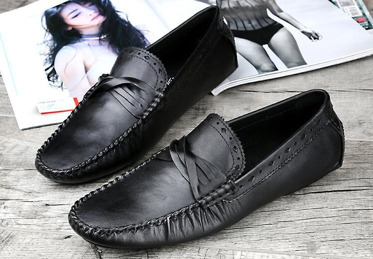 Leather Mens Fashion Casual Loafers Flats Slip On 2018 Summer Breathable Male Runway Smoking Shoes Sapatos Man Driving ShoesLeather Mens Fashion Casual Loafers Flats Slip On 2018 Summer Breathable Male Runway Smoking Shoes Sapatos Man Driving Shoes
