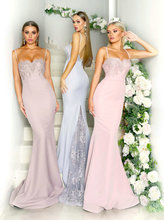 Stylish Pink Long Bridesmaid Dress 2019 Banquet Wedding Party Gown