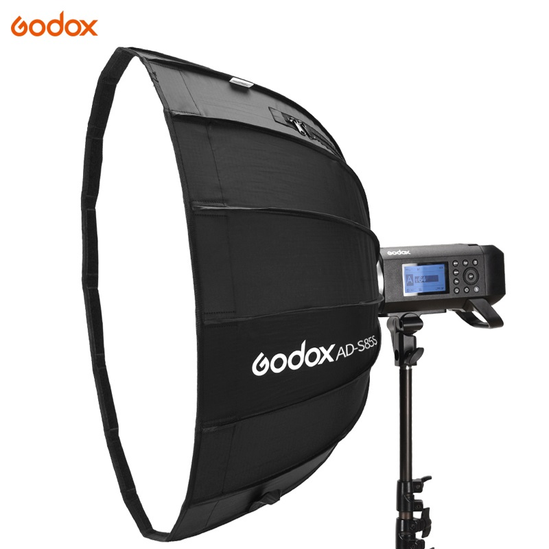 Godox AD-S85S 85cm Silver Deep Parabolic Softbox With Honeycomb Grid Godox Mount Softbox For AD400PRO