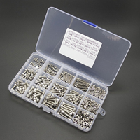 480pcs Stainless Steel Hex Socket M2 M3 M4 Head Cap Screws Nut Set With Box For