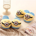 2016 New Arrival Cartoon Minions Cotton House Slippers Winter Warm Women Men Indoor/Floor Slippers Slippers Soft Slippers Shoes