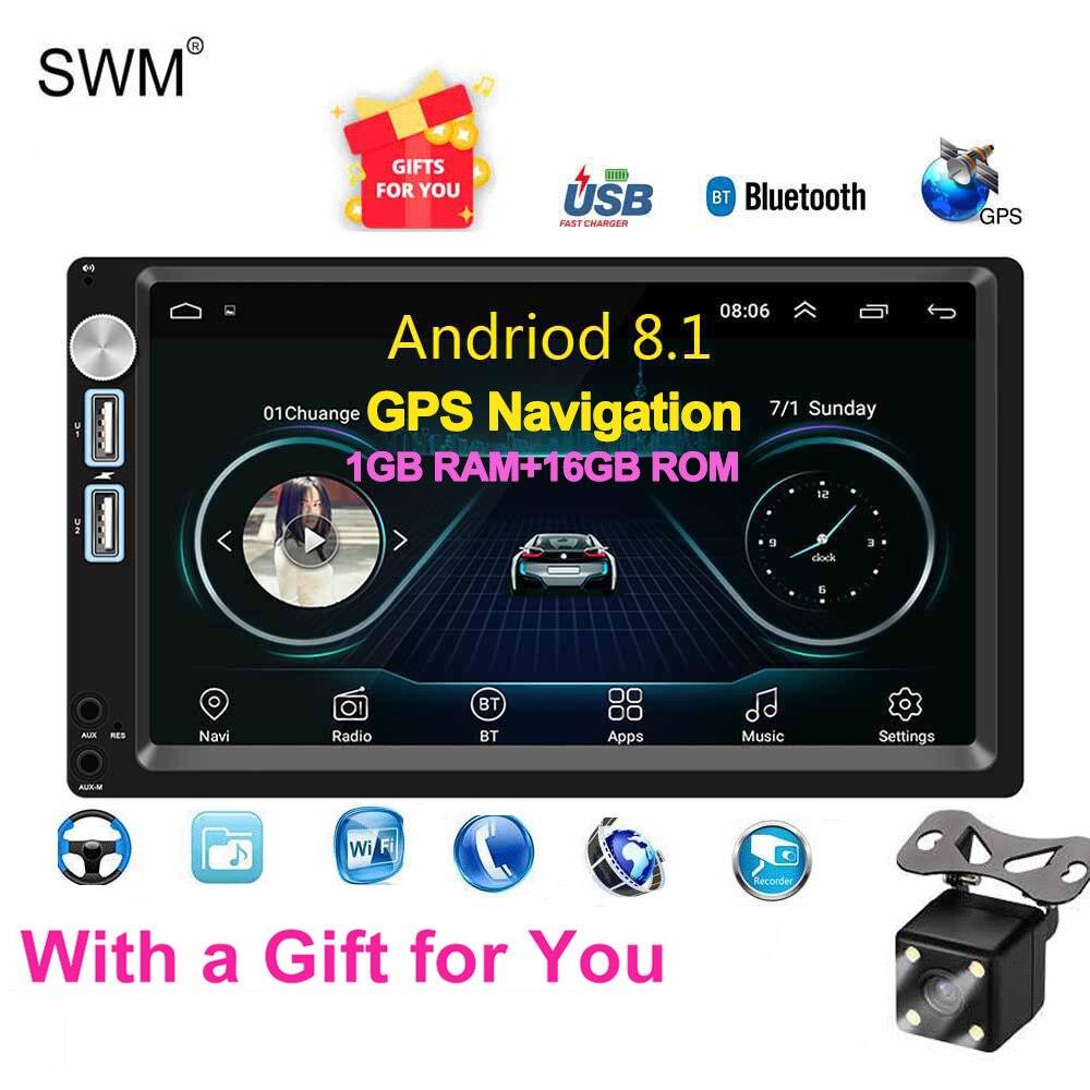 Autoradio SWM Android 8.1 Autoradio 2din MP5 GPS récepteur stéréo 7