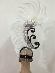 Image 3 - Feather clothing Stage performance catwalk carnival Headdress flower pubs party Mens wear womens clothing