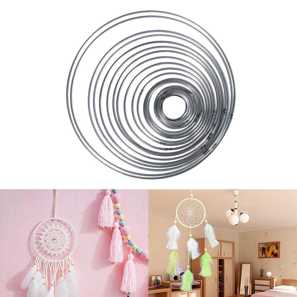 1PC Multi-size Metallic Round Good Welded Metal Hoop Dream Catcher Dreamcatcher Ring Craft Hoop Home Decoration DIY Accessories