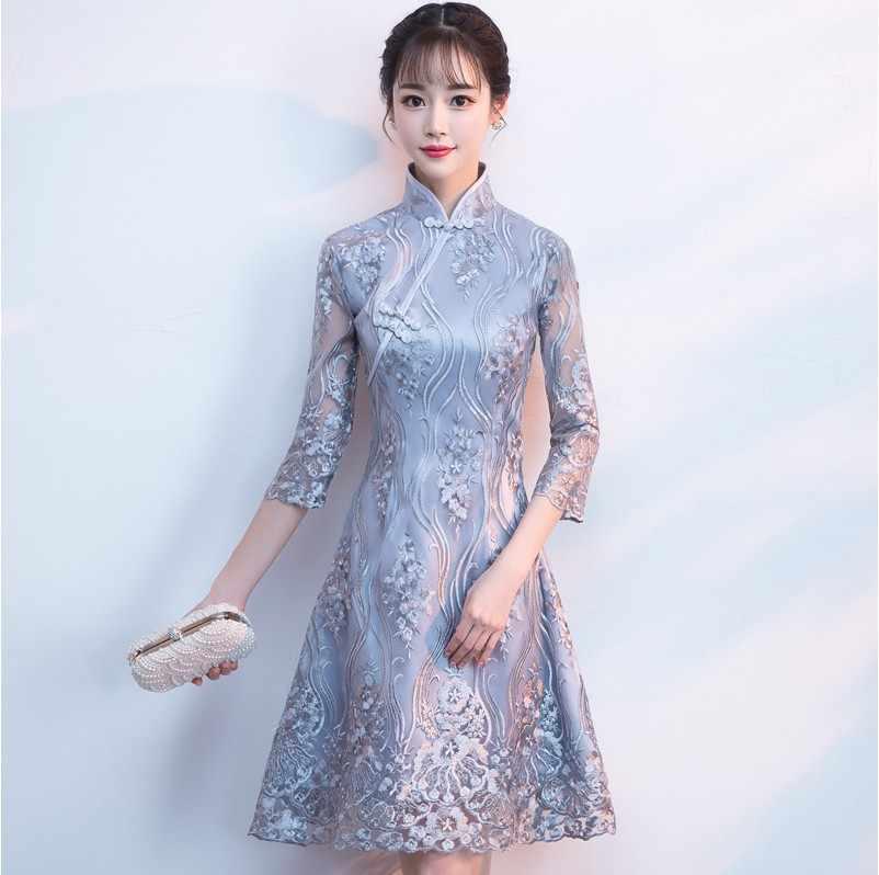Classic Women Dress Traditional Chinese Modern Qipao Long Wedding Cheongsam Robe Mariage Femme Oriental Styled Dresses Cheongsams Aliexpress