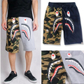 2016 loose New camouflage  shark  Pants Shorts Cosplay Costume Unisex Casual Beach Shorts