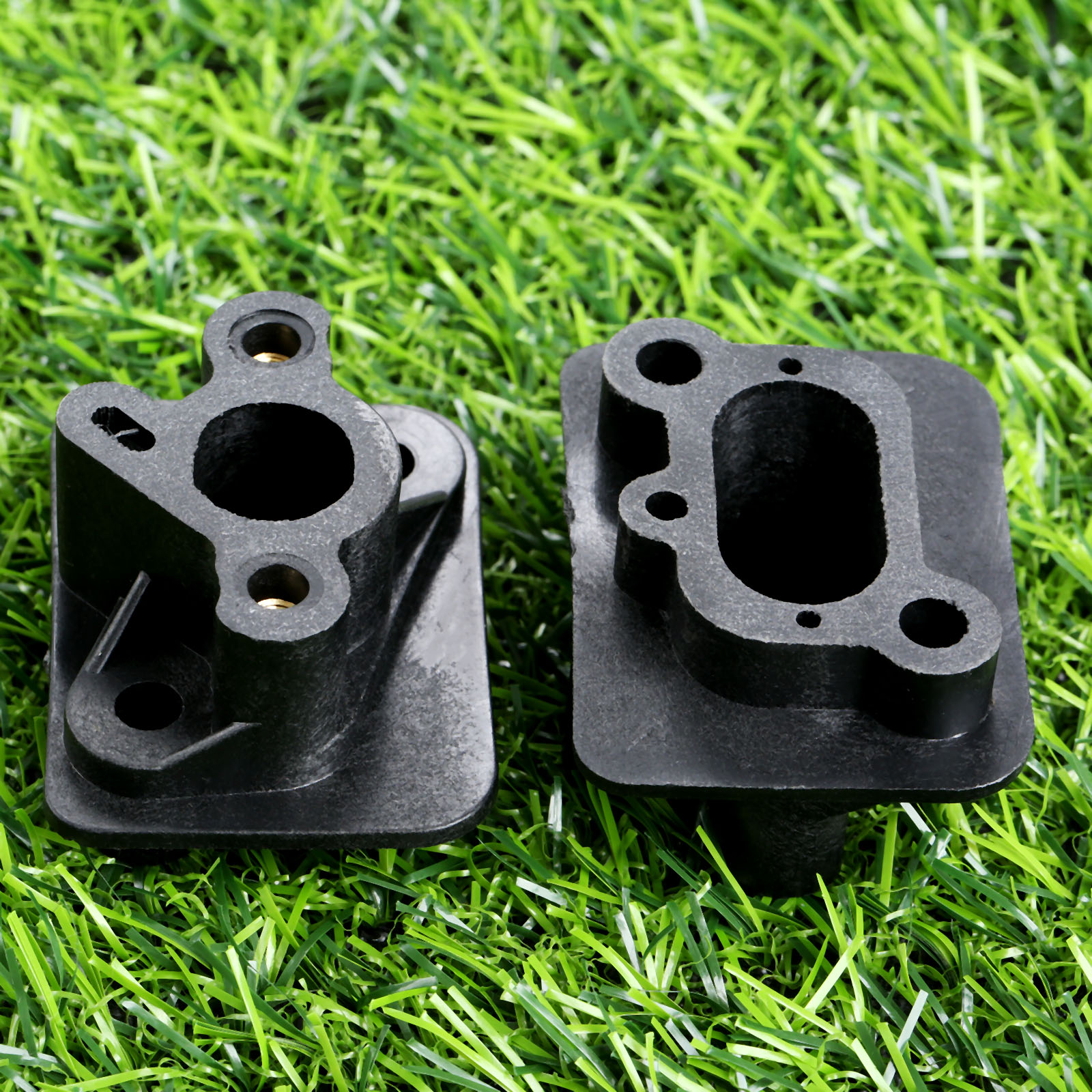 DRELD 2Pcs Trimmer Parts Tools 40-5 43CC 52CC Brush Cutter Intake Manifold Carburetor Base Connector Admitting Pipe Carb Adaptor dreld carburetor carb for 1e40f 5 tb43 brush cutter chainsaw spare parts for grass trimmers and cutters garden tools parts