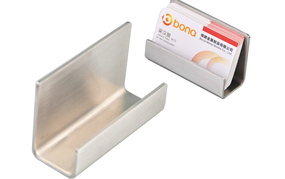 modern art stainless steel business card holder name card display stand satin finish luxury card holder note holder in card holder note holder from - Business Card Display
