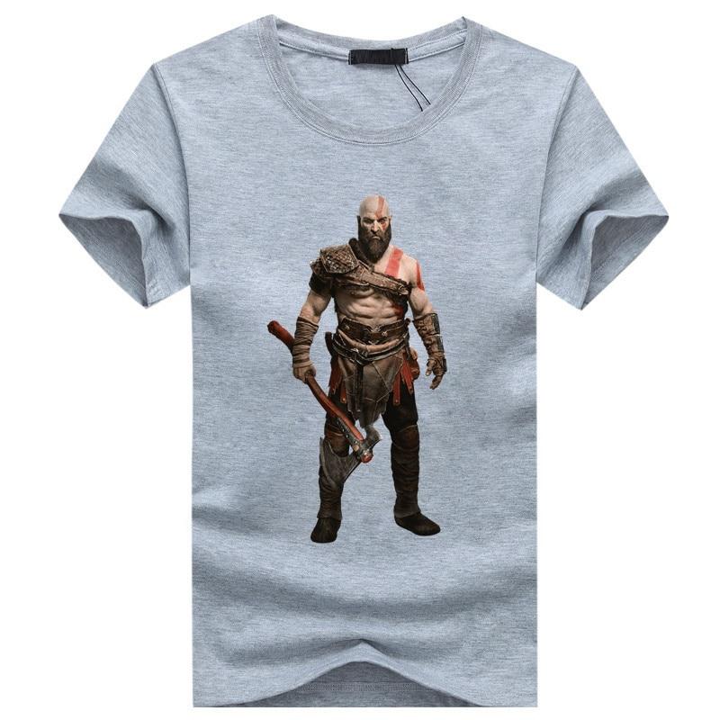 WBDDT God of War 4 Kratos and Son Atreus Fans Game T-shirt Cotton T-shirt Men Women Unisex Top Transfer Suit Tee Drop Shipping