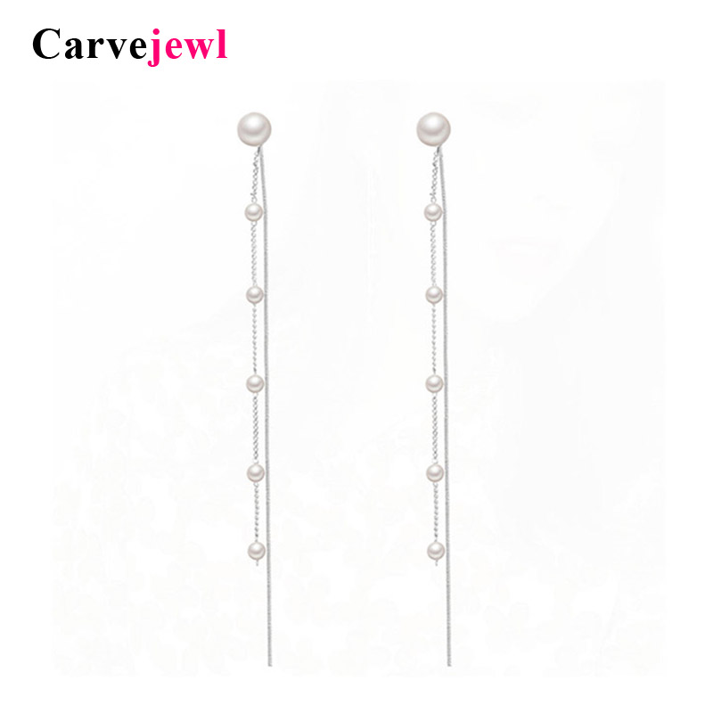 Carvejewl Front Back Double Sided Long Earrings Korea Fashion Jewelry Personality Temperament Plastic Post Anti Allergy Earrings Dependable Performance Earrings
