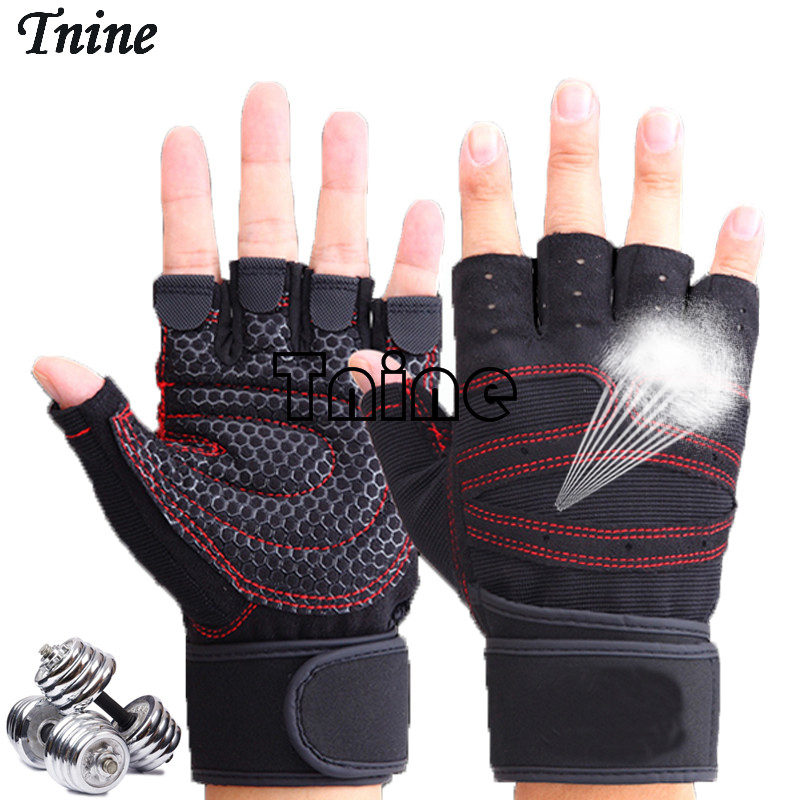 TNINE Body Building Training Fitness WeightLifting Gloves For Men Women Workout Half Finger Fitness Exercise Gym Tactical Gloves