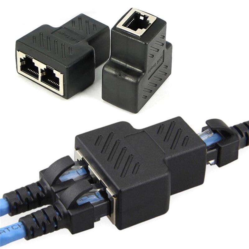 RJ45 Splitter Adapter 1 To 2 Ways Dual Female Port CAT5/CAT 6 LAN Ethernet CableRJ45 Splitter Adapter 1 To 2 Ways Dual Female Port CAT5/CAT 6 LAN Ethernet Cable
