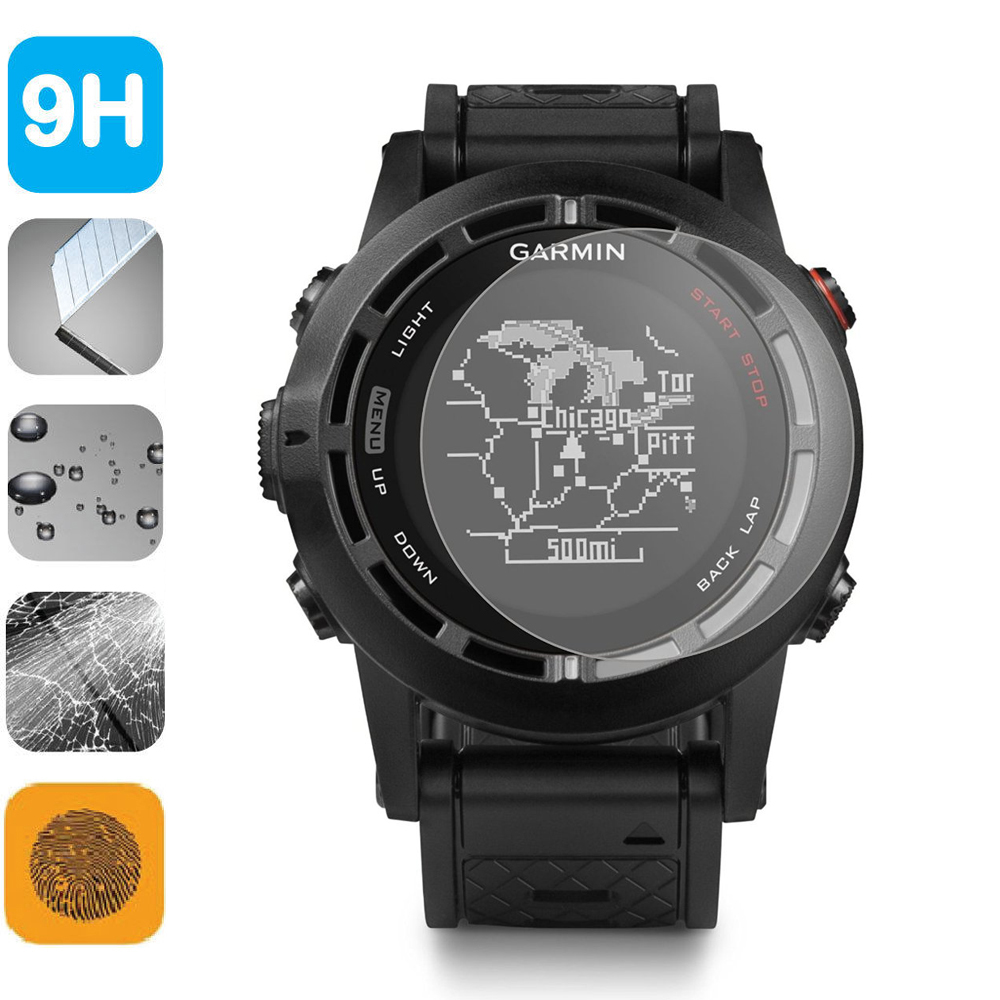 9H Tempered Glass LCD Screen Protector Shield Film for Garmin Fenix2 - Mobile Phone Accessories and Parts - Photo 2