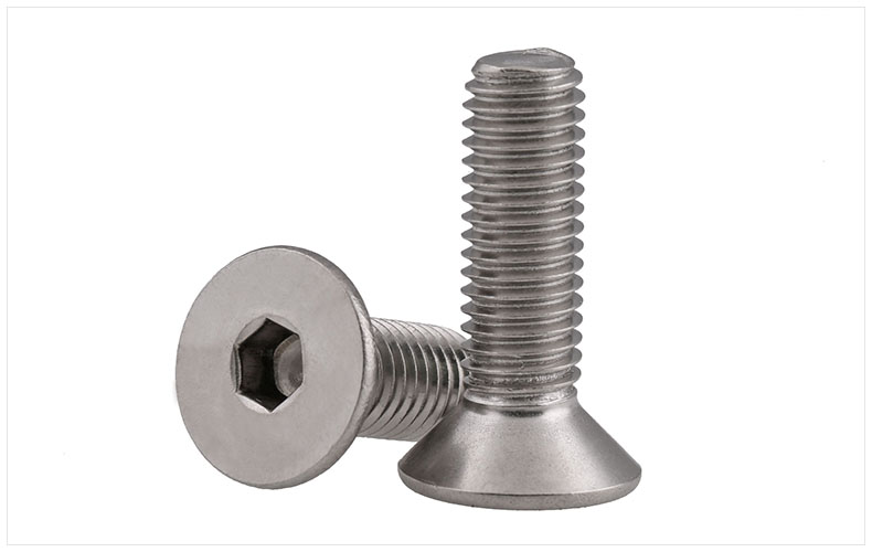 DIN7991 316 stainless steel countersunk head flat head screws Hex socket screws M3 M4 M5 screws bolts m4 din7991 hexagon hex socket countersunk flat head cap screws 304 stainless steel diy home maintain matel working