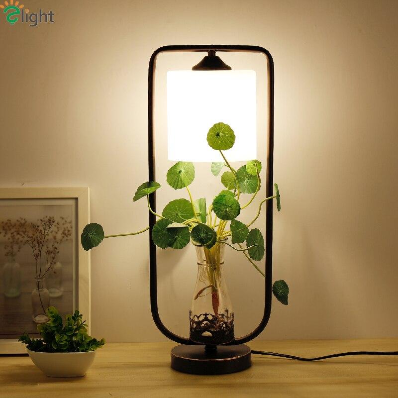 Plantas e27 luzes led de mesa simples e moderno lustre de vidro quarto conduziu a l mpada de - Stehleuchte wohnzimmer ...