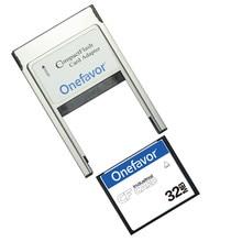 سعة صغيرة!!! 32MB 64MB 128MB 256MB 512MB بطاقة فلاش مدمج الصناعية CF بطاقة الذاكرة مع PCMCIA محول نوع II و نوع I
