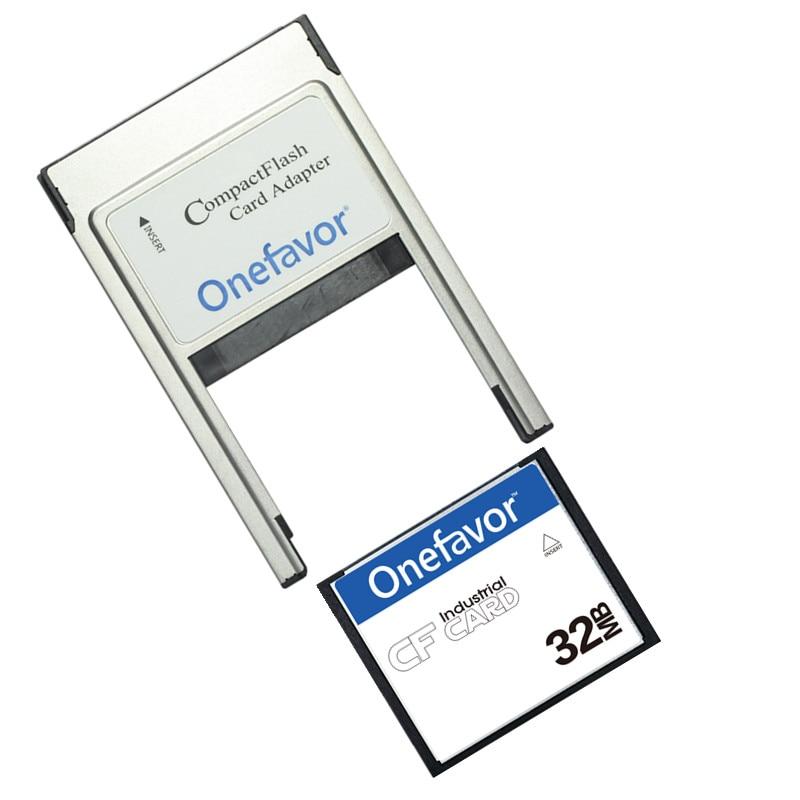 Petite capacité!!! 32 mo 64 mo 128 mo 256 mo 512 mo carte Flash compacte industrielle CF carte mémoire avec adaptateur PCMCIA Type II et Type I