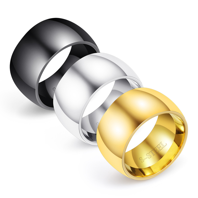 men's glossy personalized 316L titanium steel men's rings that wear smooth THUMB